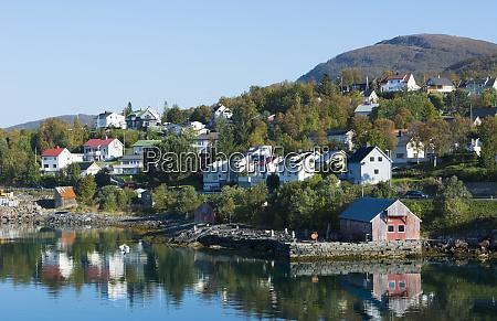 finnsnes norway cruise hurtigruten town from