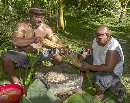 kosrae micronesia fsm two local men