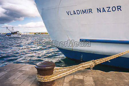 large ship at dock zadar dalmatian