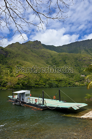 ferry over the ouaieme river on