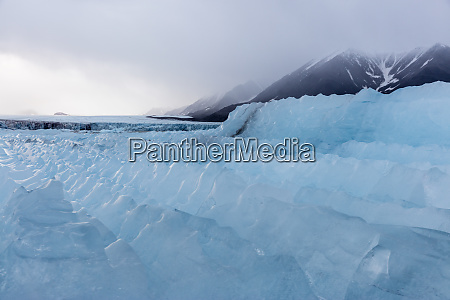norway svalbard spitsbergen glacial ice and