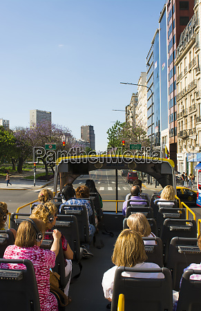 buenos aires argentina double decker tourist