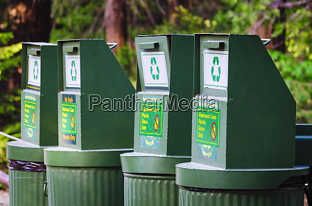 recycling cans yosemite national park california