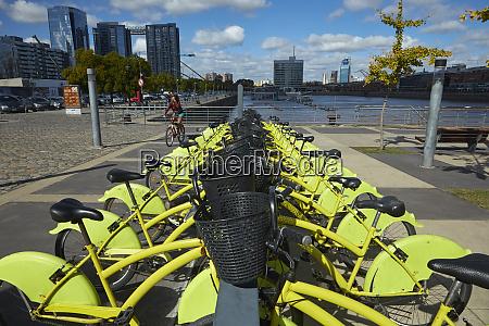 ecobici bike sharing station puerto madero