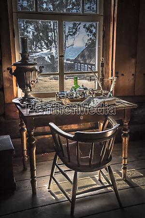 old vintage desk with old desk