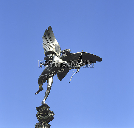 eros statue piccadilly circus london england