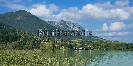 lake walchsee near kossen in tirol
