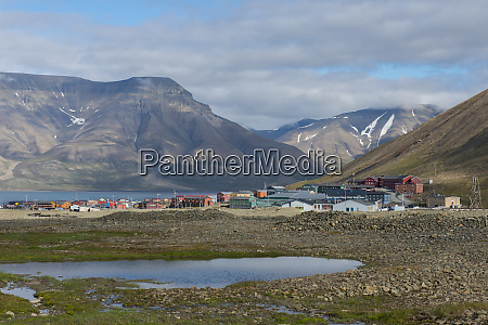 norway spitsbergen scenic overview of the