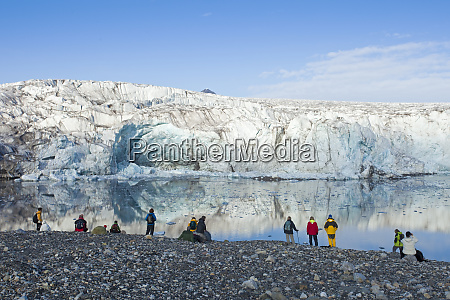 arctic svalbard isfjorden tourists experience the