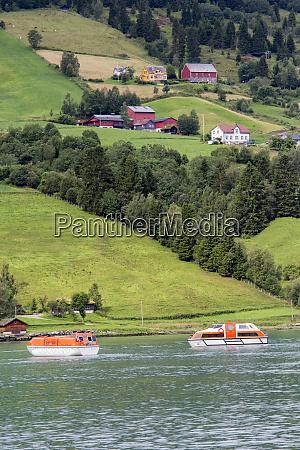 tender boats nordfjorden olden norway