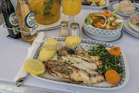 portugal lisbon grilled dory and potatoes