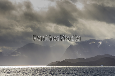 greenland kangerlussuaq low clouds over the