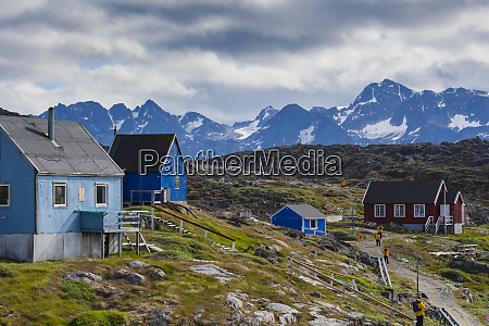 greenland itilleq visitors exploring town