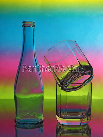 bottle drinking glass backlight