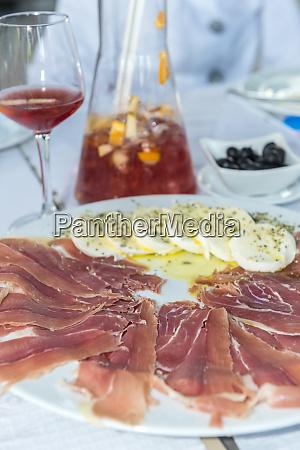 portugal porto ham and mozzarella cheese