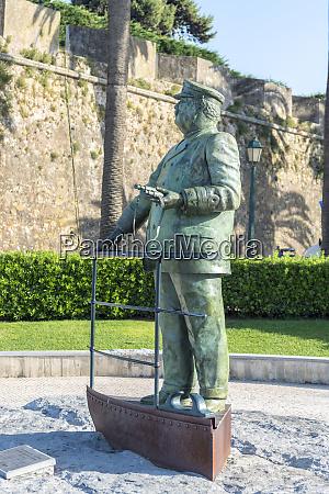 portugal cascais statue of king carlos