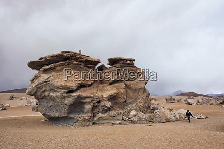 rock formation in eduardo avaroa andean