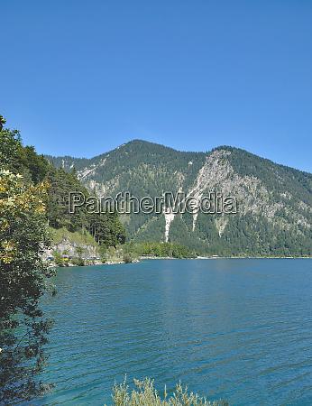 lake plansee near reutte in tirol