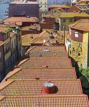 the roofs of the quarter ribeira