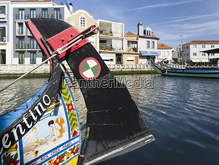 traditional painted moliceiro boats aveiro in
