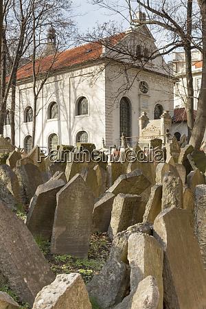 czech republic prague headstones in old