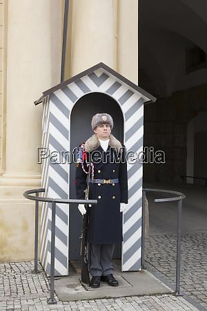 czech republic prague royal guard at