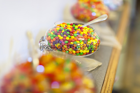 gummy type candy in large jars