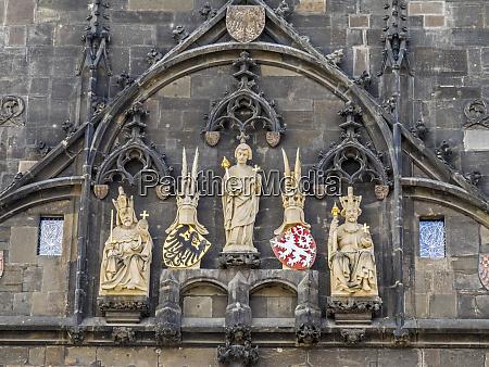 czech republic prague carvings above the