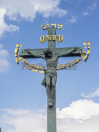 czech republic prague crucifix and calvary