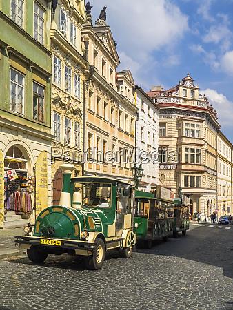 czech republic prague green tourist train