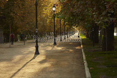 cycle and walkway and autumn colors