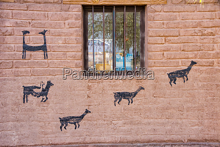 house wall painted with vicuna san