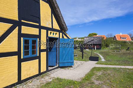 denmark jutland skagen half timbered buildings