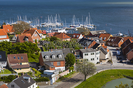 denmark zealand vordingborg elevated town view