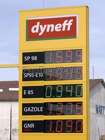 ethanol pump service station france