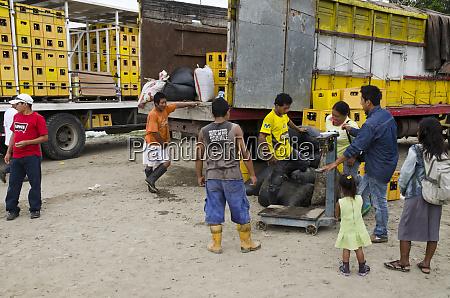 beer trucks from coca at saturday