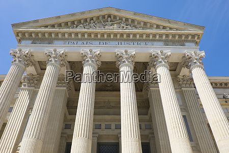 france nimes palace of justice completed