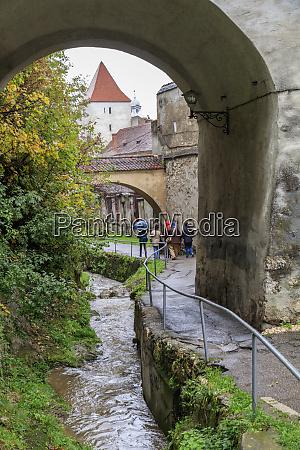 brasov romania arched gateway