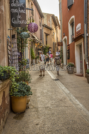 france provence roussillon street people