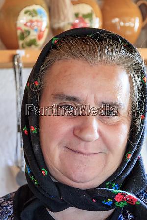 romania sapanta local woman with scarf