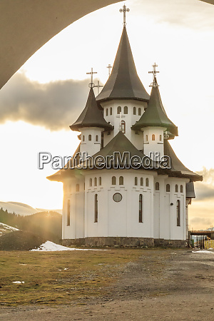 romania carpathian mountain pass orthodox church