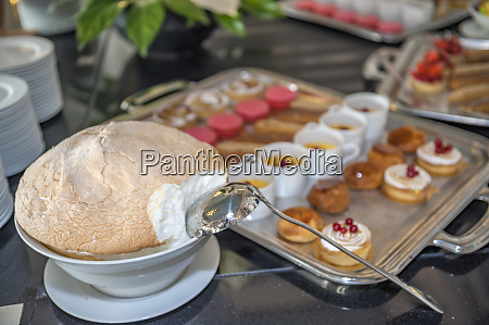 dessert buffet at grand hotel cabourg