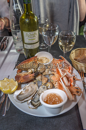 seafood dinner cabourg normandy france