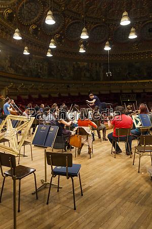 romania bucharest romanian athenaeum orchestra practice