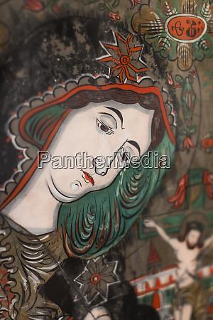 romania transylvania sibiel glass icon of