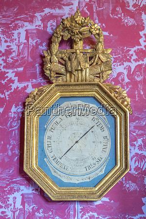 weather clock chateau de martainville normandy