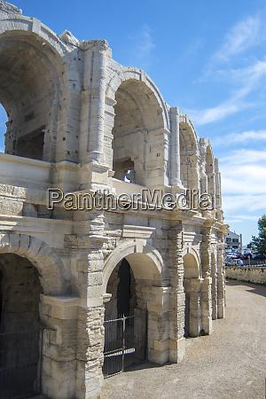 roman amphitheater arles provence france