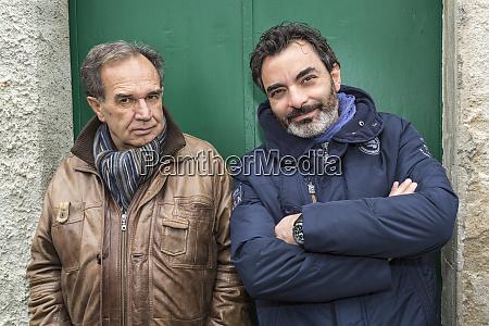 italy sardinia mamoiada two older men
