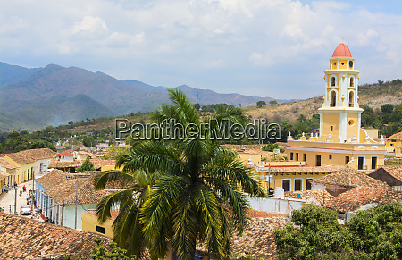 trinidad cuba from above tower with
