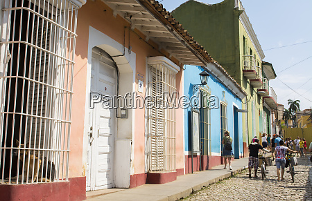 trinidad cuba cobblestone street of second